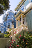 San Francisco Victorian houses near Alamo Square California Royalty Free Stock Image