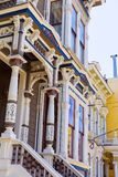 San Francisco Victorian houses in Pacific Heights California Royalty Free Stock Photos