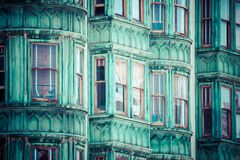 San Francisco Victorian houses Royalty Free Stock Photos