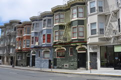 San Francisco Victorian houses. A view of a street of San Francisco with typical Victorian houses Stock Images