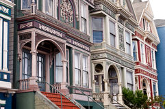 San Francisco Victorian Row Houses Imagenes de archivo