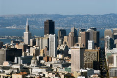 San Francisco view. From Twin Peaks hills Royalty Free Stock Photos