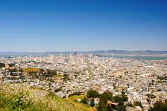 San Francisco View. From Twin Peaks hill, US Stock Images
