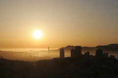 San Francisco View. In sunset time, US Royalty Free Stock Photography