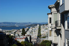 San Francisco View. View from a hill, San Francisco architecture, USA Royalty Free Stock Photos