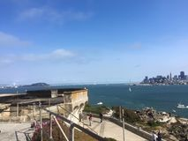 San Francisco view from Alcatraz. View of San Francisco Stock Images