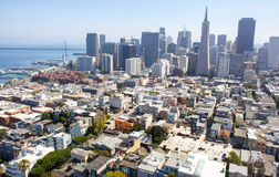 San Francisco view. From Coit Tower, one of most impressive San Francisco view Royalty Free Stock Photography