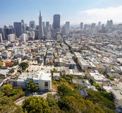 San Francisco view. From Coit Tower, one of most impressive San Francisco view Royalty Free Stock Image