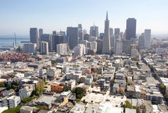 San Francisco view. From Coit Tower in September Royalty Free Stock Images