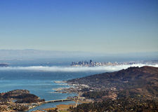 San Francisco View from Mt. Tamalapis. Image shot from the top of Mt. Tamalpais in northern California Stock Photos