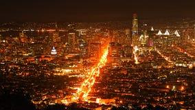 San Francisco view at night. The San Francisco view at night Stock Photos