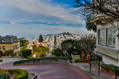Lombard Street San Francisco View Royalty Free Stock Photos