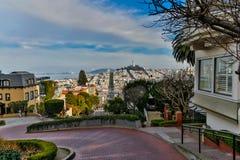 Lombard Street San Francisco View Royalty Free Stock Photos