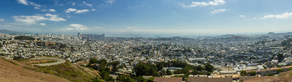 San Francisco view. Pano panoramic Royalty Free Stock Photography