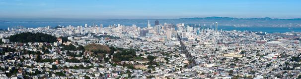 San Francisco view stock photo