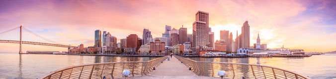 San Francisco view from Pier 14 Stock Photography