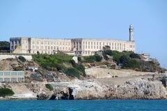 San Francisco. View on Prison Alcatraz. Alcatraz island background. USA Royalty Free Stock Photography
