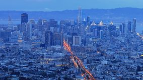 San Francisco view at twilight. The San Francisco view at twilight Stock Image