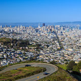 San Francisco view from Twin Peaks Royalty Free Stock Image