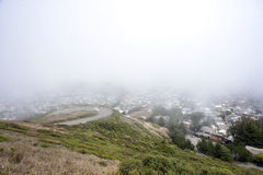 San Francisco View From Twin Peaks Stock Photo