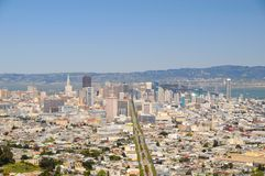 San Francisco View III. San Francisco View from Twin Peaks hill, US Stock Photos