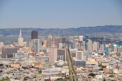 San Francisco View II. San Francisco View from Twin Peaks hill, US Stock Images