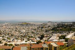 San Francisco View IV. San Francisco View from Twin Peaks hill, US Stock Image