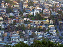 San Francisco view from Twin Peaks hills Stock Photos
