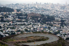 San Francisco view from Twin Peaks Stock Photos