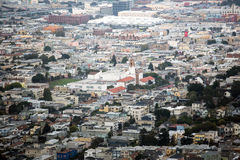 San Francisco view from Twin Peaks Royalty Free Stock Photos