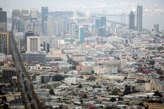 San Francisco view from Twin Peaks Stock Photography