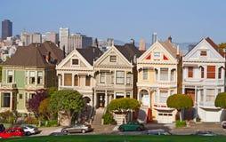 San Francisco. Viktorianische Häuser. Stockbild