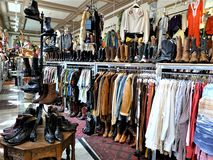 San Francisco, a vintage clothing store stock photo