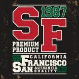 San Francisco vintage stamp Royalty Free Stock Photo