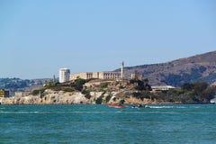 San Francisco Vista sulla prigione Alcatraz fotografie stock libere da diritti