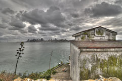 San Francisco von Alcatraz Stockfotos