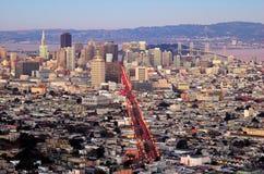 San Francisco von den Doppelspitzen Stockfotografie