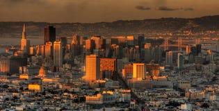 San Francisco von den Doppelspitzen Stockbilder