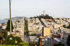 San Francisco von den Hügeln Stockfoto