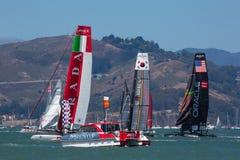 San Francisco während des Schlusses des Amerika's Cup 2012 Lizenzfreies Stockbild