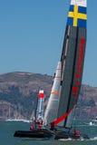 San Francisco während des Schlusses des Amerika's Cup 2012 Lizenzfreie Stockfotografie