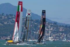 San Francisco während des Schlusses des Amerika's Cup 2012 Stockbild