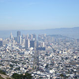San Francisco w centrum, obraz royalty free