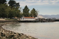 San Francisco Water Front Aquatic Park Royalty-vrije Stock Afbeelding