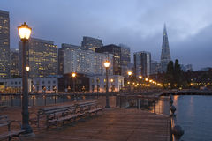 San Francisco Waterfront at Night Royalty Free Stock Image