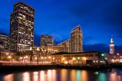 San Francisco Waterfront  - night Stock Photos