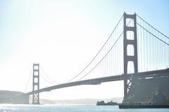 San Francisco z?oci wrota most zdjęcie royalty free