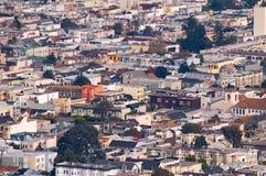 San francisco z widokiem na ulicy Obrazy Royalty Free