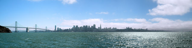 San Franciscoa Bay Bridge And Cityscape Royalty Free Stock Photo