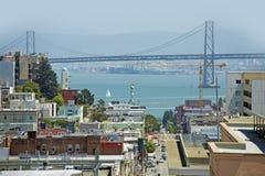San Franciso Bay Area. San Francisco Bay Area with Bridge in a Distance. San Francisco, California, USA. American Cities Photo Collection Stock Image